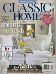 CLASSIC HOME *PREMIERE* SPRING 2018 traditional country southern living B2021N $5.95