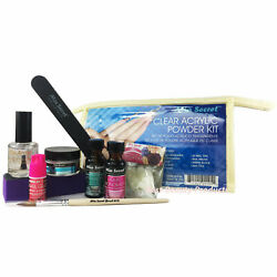 MIA SECRET CLEAR ACRYLIC POWDER PROFESSIONAL FULL NAIL: KIT-01(10PCS) $23.95