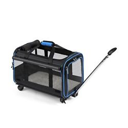 YOUTHINK Pet Wheels Rolling Carrier Removable Wheeled Travel Carrier for Pet... $95.04