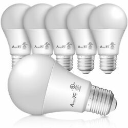 A19 LED Light Bulbs Efficient 9W(60W Equivalent) 830 Lumens UL Listed - 6 Pack $11.99