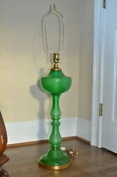 DESIGNER MARBRO SEGUSO BAROVIER & TOSO MURANO ITALY GREEN GLASS TABLE DESK LAMP $1,899.99