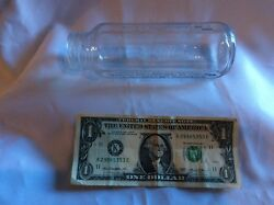 circa 1950 60's claer glass Evenflo baby bottle 7 in 4 different languages mint $5.99