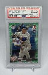 2017 Topps Holiday Bowman Green Sweater Rookie RC PSA 10 3399 Yankees $75.00