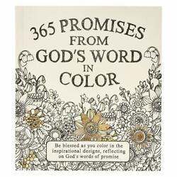 Coloring Book for Adult 365 Promises From God#x27;s Word Art Relaxing Relief Stress $10.99