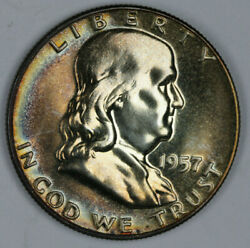 Toned Cameo Proof 1957 Franklin Half Dollar $19.99
