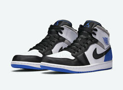 Nike Air Jordan 1 Mid SE quot;Unionquot; Game Royal White Black 852542 102 Men#x27;s NEW $165.99