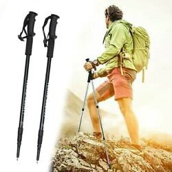 Pair 2 Trekking Walking Poles Hiking Sticks Trekking Trail Adjustable Alpenstock $22.29