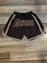 Lakers Basketball Team Shorts Lebron James Summer League Mens Black Size M-XL $42.95