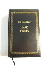 The Works of Mark Twain hard cover non leather Tom Sawyer Huckleberry Finn etc