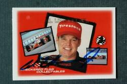 Indy 500 Champion Al Unser Jr. signed autograph 2002 Checkered flag Racing card $6.99