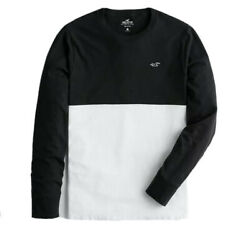 NWT Hollister Men's Long Sleeve Colorblock Embroidered Logo T-Shirt Small $14.98