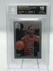MICHAEL JORDAN 1998 UPPER DECK STICKER COLLECTION BGS 10 BLACK PRISTINE 1 1 PSA $2323.23