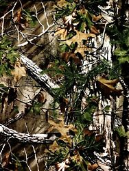 Real Tree Camouflage Camo Cotton Novelty Quilt Fabric Fat Quarter Green Brown $4.50