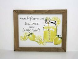Country Decor When Life Gives You Lemons Sign Rustic Home $7.50