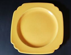VINTAGE HOMER LAUGHLIN RIVIERA PATTERN YELLOW 9quot; LUNCHEON PLATE FIESTA $10.10