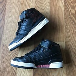 Adidas Forum Mid with Strap High Top Black amp; Red Size 9.5 2011 Net Design $21.99