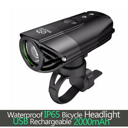 MTB Road Bike Light Front USB Rechargeable LED Bicycle Headlight Bright Cycling $24.69