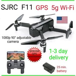 SJRC F11 Drone GPS 5G WiFi FPV 1080p HD Camera Brushless RC Quadcopter foldable $155.00