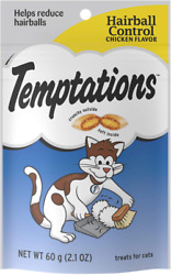 Temptations Functional Cat Treats Hairball Chicken Flavor 2.1 oz. Pack of 12 $27.99