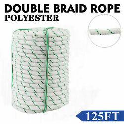 1 2quot; 125ft Braid Rope 8400Lbs BREAKING STRENGTH Safe Climbing Tree Rock USA NEW $33.95