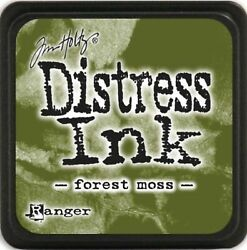 FOREST MOSS Distress Mini Ink Pad Tim Holtz Stamping Scrapbooking Cardmaking $2.99
