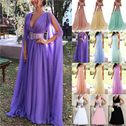 Women Long Formal Wedding Dress Party Prom Bridesmaid Party Lace Maxi Dresses $42.17