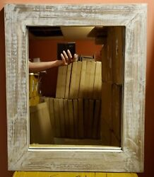 Distressed Wood Rustic Wall Decor Mirror Rustic Country Farmhouse Home Wall Dec $47.99