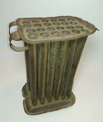 Antique Colonial 24 tube Tin Candle Mold early 19th Century NJ Monmouth County $139.95