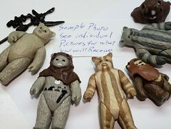 Star Wars Vintage PICK Ewoks Paploo Last 17 Teebo Weapons Wicket Lumat Cardbacks $37.00