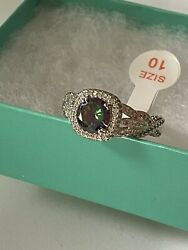 Ring Bomb Party Size 10 Rainbow Topaz New Srp $176 $28.00
