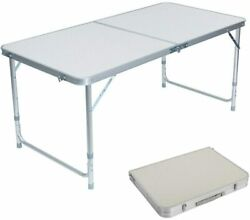 Portable Indoor Outdoor Aluminum Folding Table 4#x27; Picnic Party Camping US seller $34.95