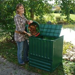 Outdoor Composting 110 Gallon Composter Recycle Plastic Compost Bin Green $234.95