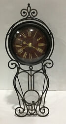 """Sterling amp; Noble Metal Distress Standing Or Wall Rustic Decorative 12"""" Clock $42.99"""
