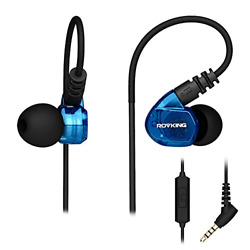 ROVKING Wired Over Ear Sport Earbuds Sweatproof in Ear Running Headphones for $18.20