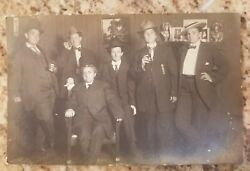 Vintage Antique Photograph Women Wearing Mens Suits Cigars Gangsters Odd RPPC $20.24