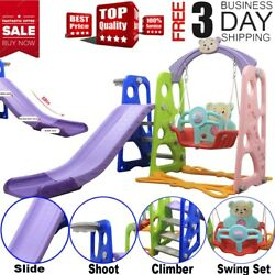 kindergarten Baby Kids Swing Slide Combination Playset Large Size Indoor Outdoor $119.99