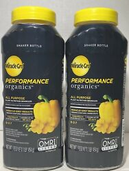 Miracle Grow Performance Organics All Purpose Plant Nutrition 2 1lb Bottles. $19.99