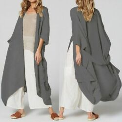Women Kimono Cardigan Long Blouses Belted Casual Beach Cover Up Loose Shirts $30.99