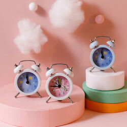 Mini Alarm Clock Table Clock Bedside Table Quartz Colorful Small Bedroom $6.19
