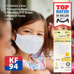 10 PCS KF94 WHITE Protective Safety Face Mask Kids Children Made in Korea $27.99
