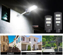 LED Solar Street Wall Light 60W 90W Radar Induction Remote Control Outdoor Lamps $75.99