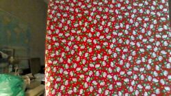 SNOWMAN ON RED Fabric 100% PREMIUM cotton 18quot; x 21quot; BRAND NEW NOT PRE CUT $2.00