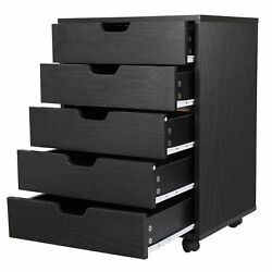 5 Drawer Dresser Clothing Storage Chest Beside Wall Bedroom Save Space Indoor $83.99