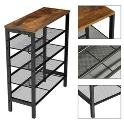 Industrial Shoe Rack Adjustable Country Style 5 layer Shoe Rack Storage Rack BS $78.95