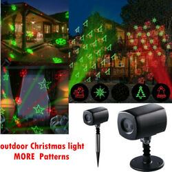 Christmas Lights Projector LED Laser Outdoor Landscape Xmas Lamp Waterproof BS