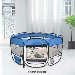 New 45quot; Pet Dog Fence Puppy Soft Playpen Exercise Pen Folding Crate $34.90