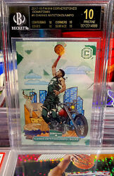 2017 Panini Cornerstones Downtown Giannis Antetokounmpo #DT6 BGS 10 Black Label $6000.00