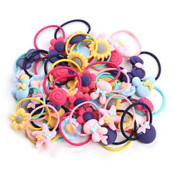 40pcs Kid Girls Hair Accessories Elastic Hair Ties Rope Ponytail Holder $6.95