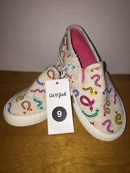 NEW Little Girls#x27; Mady Slip on Canvas Sneakers Cat amp; Jack Size 9 No Box $11.25