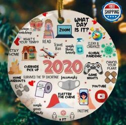 Personalized 2020 Christmas Ornament Quarantine Family Gifts Masks Customized